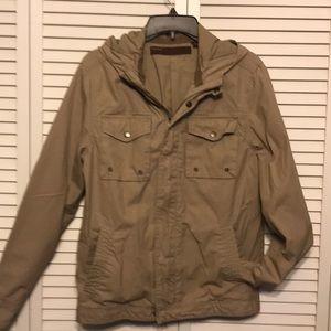 Perry Ellis  Tan Hooded Jacket size S
